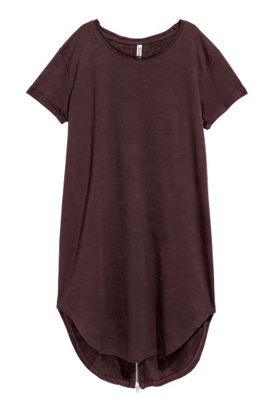 Sweatshirt dress - Burgundy -  | H&M CN