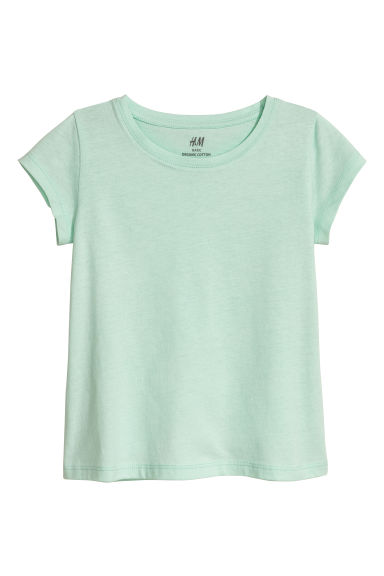 T-shirt in jersey - Verde menta -  | H&M IT