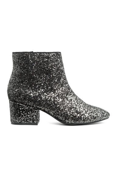 Glittery ankle boots - Silver-coloured/Glitter - Ladies | H&M