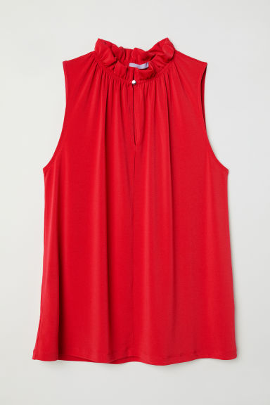 Crêpe top - Red - Ladies | H&M CN