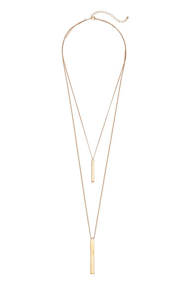 Two-strand necklace - Gold-coloured -  | H&M CN