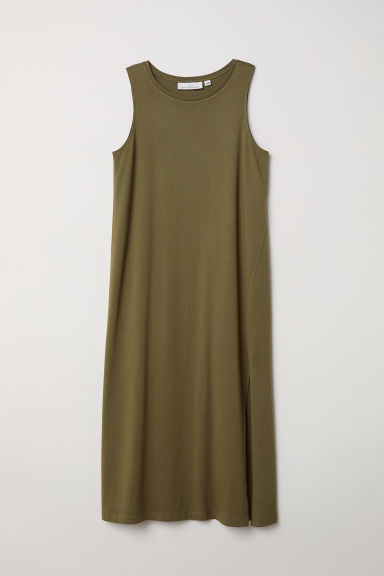 Vest dress - Khaki green - Ladies | H&M