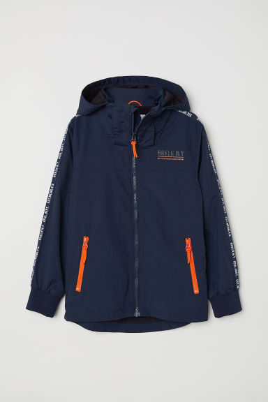 Fleece-lined jacket - Dark blue - Kids | H&M CN