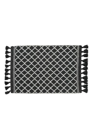 Jacquard-weave bath mat - Anthracite grey/White - Home All | H&M CN