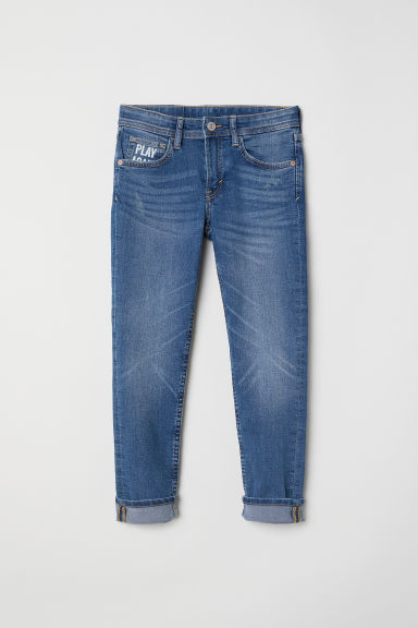 Skinny Fit Jeans - Denimblå/Play Again - BARN | H&M SE
