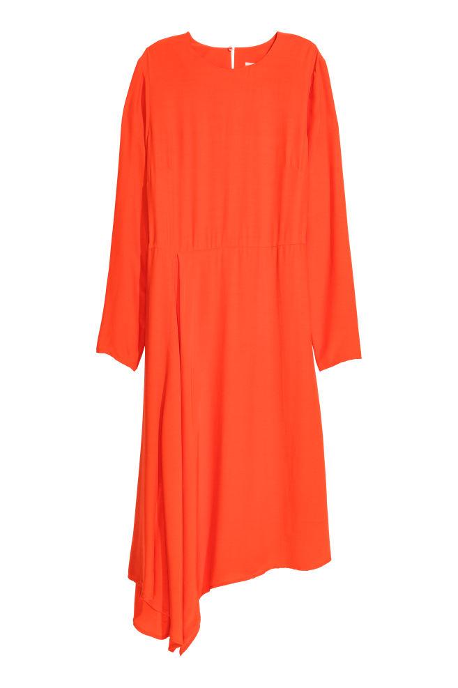 319e811478ee Asymmetrisk kjole - Orange - DAME