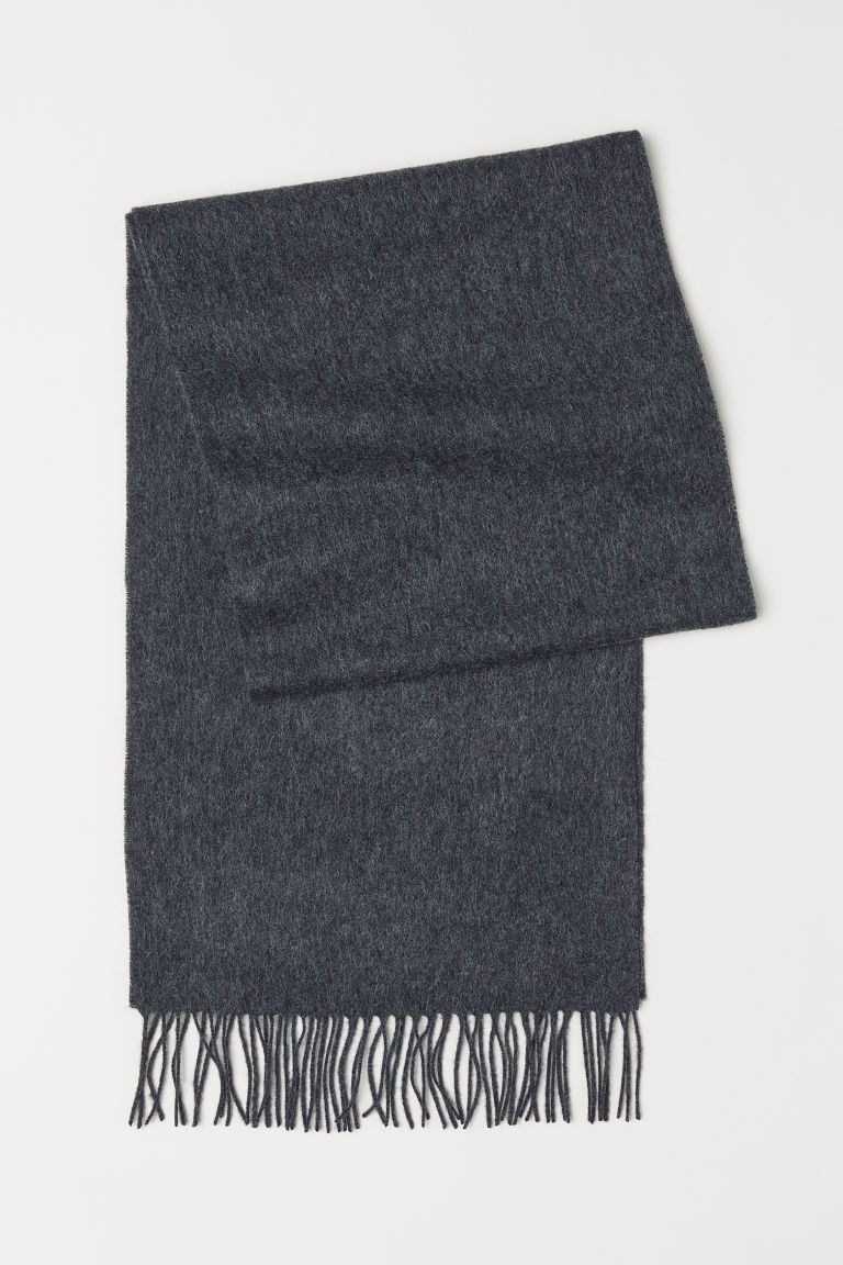 Wool scarf - Dark grey marl - Men | H&M