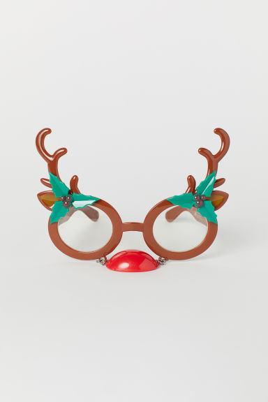 Glasses with antlers - Brown/Reindeer - Men | H&M