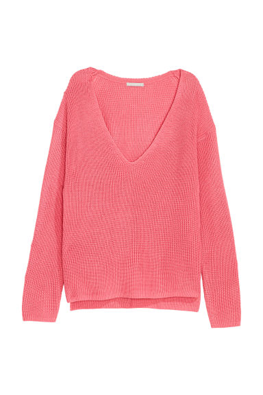 Knitted wool-blend jumper - Cerise - Ladies | H&M CN