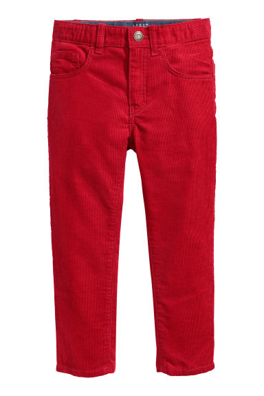 Corduroy trousers - Dark red - Kids | H&M CN