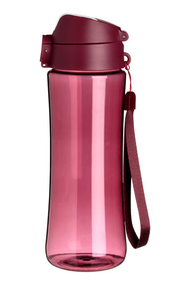 Water bottle with a lid - Rust red - Ladies | H&M
