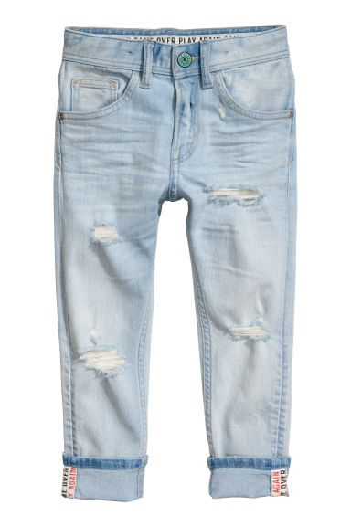 Relaxed Tapered Fit Jeans - Azul denim claro - CRIANÇA | H&M PT