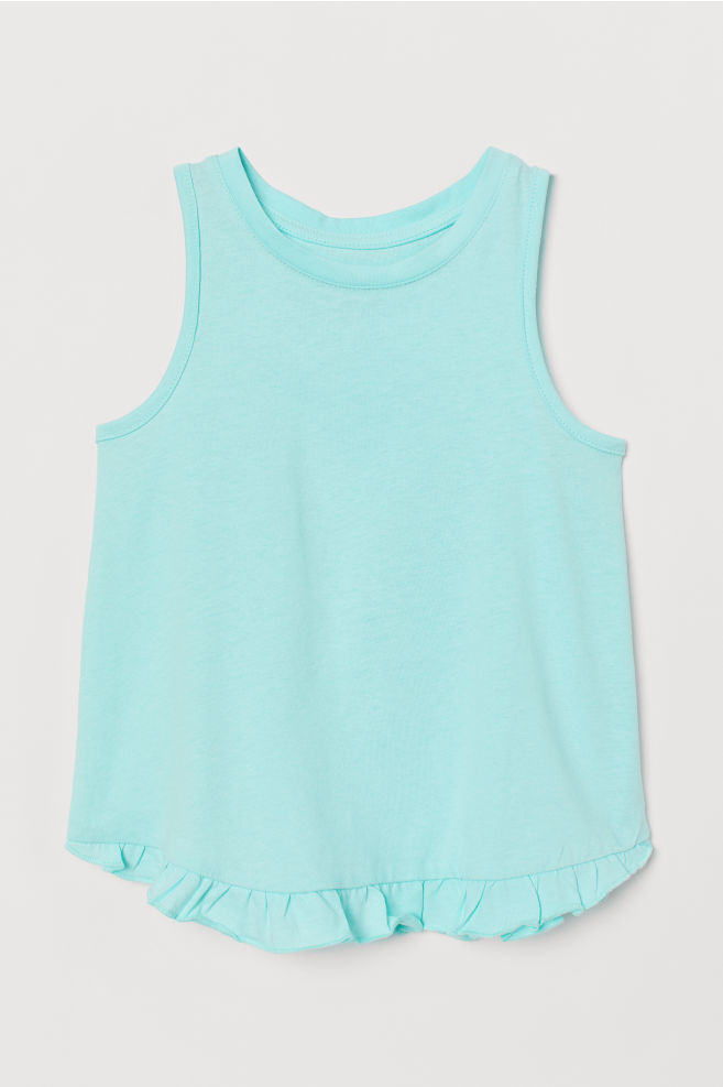 104f23efe702 Ruffle-trimmed Tank Top - Turquoise - Kids