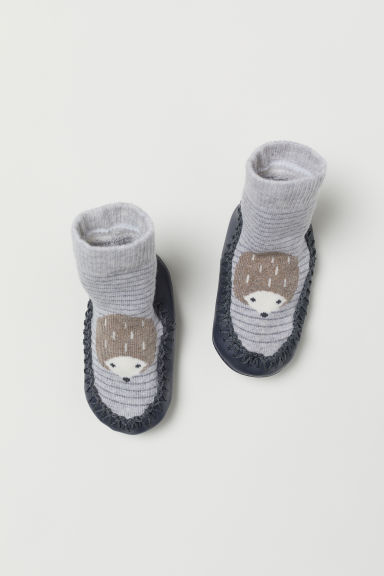 Moccasins - Grey/Hedgehog - Kids | H&M