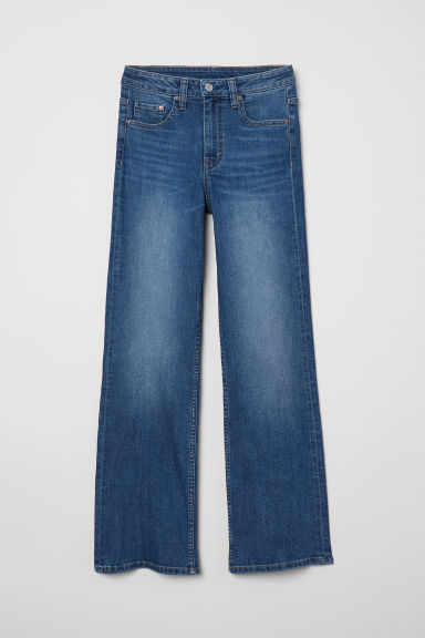 Kickflare High Ankle Jeans - 牛仔蓝 - Ladies | H&M CN
