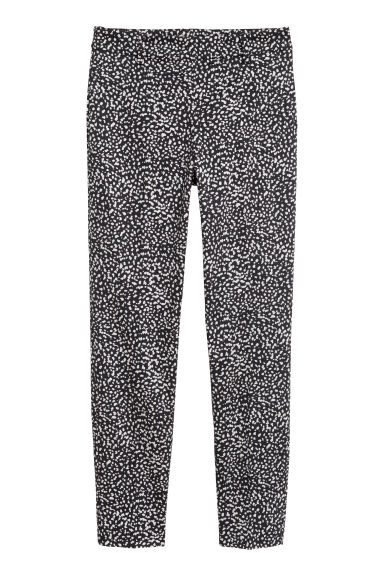 Cigarette trousers - Black/Patterned - Ladies | H&M IE