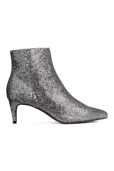 Ankle boots - Silver-coloured/Glitter - Ladies | H&M CN
