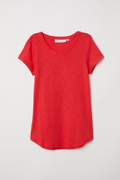 Top en jersey - Rouge -  | H&M FR