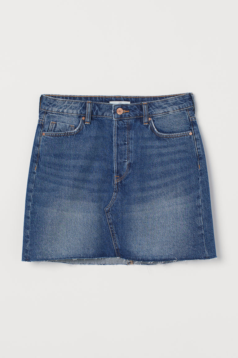 Short Denim Skirt - Denim blue -  | H&M US
