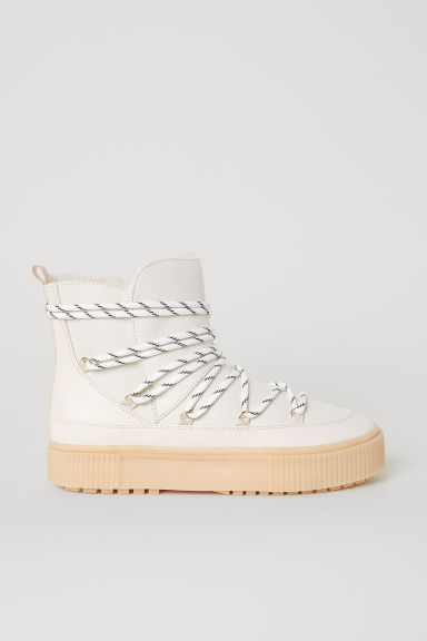 Lined boots - Light beige - Ladies | H&M CN