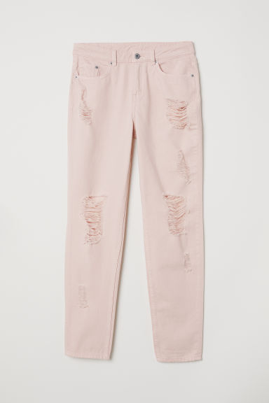 Boyfriend Slim Low Jeans - Powder pink - Ladies | H&M