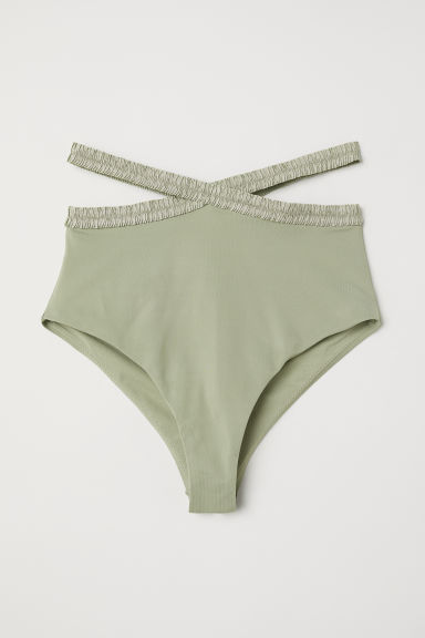 Slip bikini High Waist - Verde kaki chiaro - DONNA | H&M IT