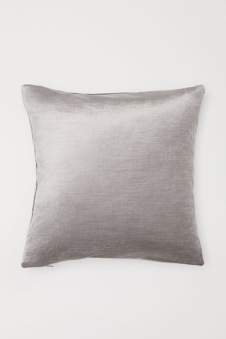 Velvet Cushion Cover - Light gray - Home All | H&M US
