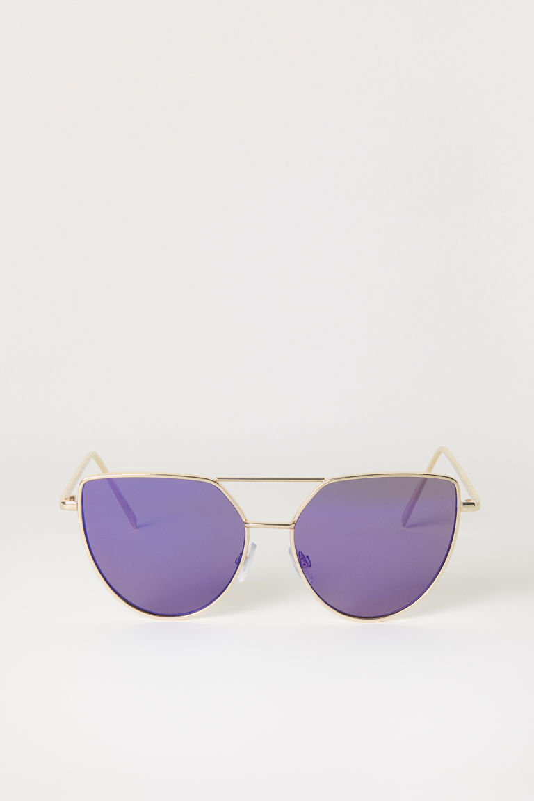 Sunglasses - Purple/Gold-coloured - Ladies | H&M CN