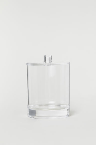 Pot with a lid - Clear plastic -  | H&M GB