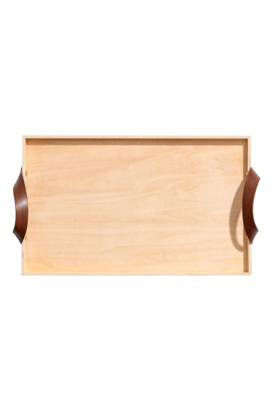 Wooden breakfast tray - Light wood - Home All | H&M CN