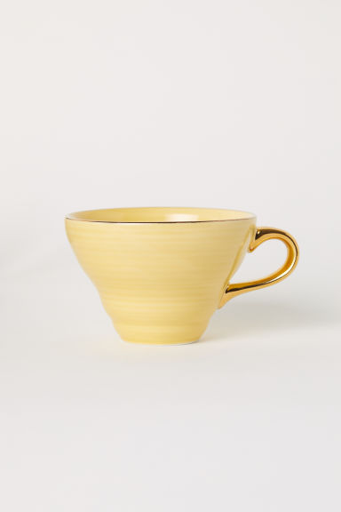 Textured porcelain cup - Yellow - Home All | H&M IE