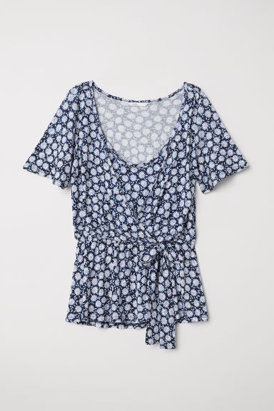 MAMA Nursing top - Dark blue/Floral - Ladies | H&M