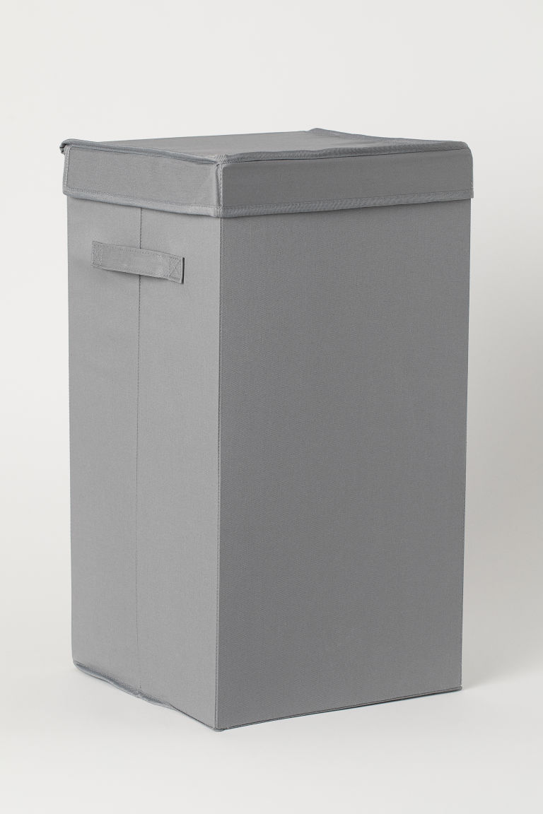 Collapsible laundry basket - Grey - Home All | H&M GB