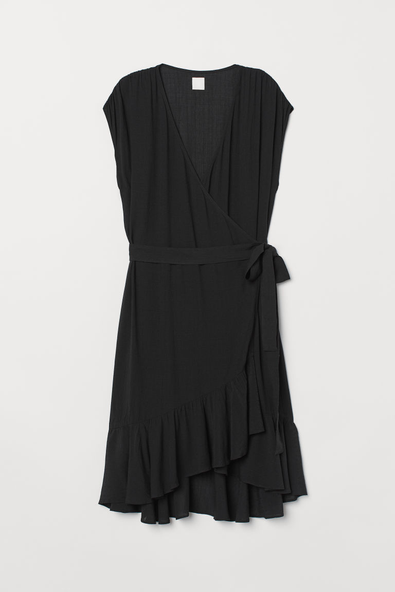 Abito con volant - Nero - DONNA | H&M IT