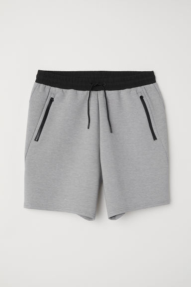 Sporty scuba shorts - Grey marl - Men | H&M