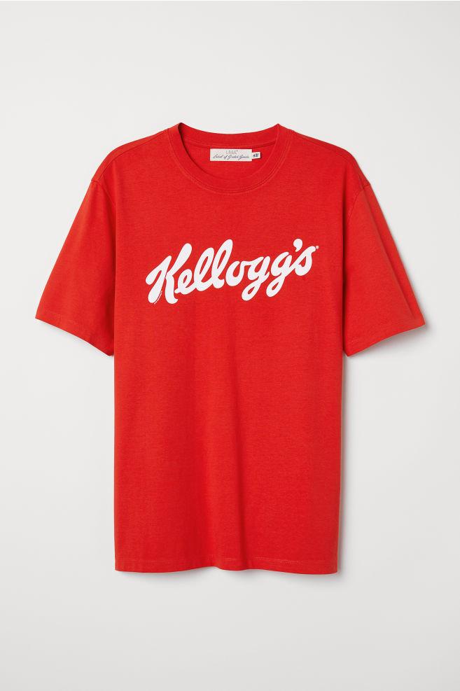 T-shirt with Printed Design - Red Kellogg s - Men  5ff1a7e08c2f