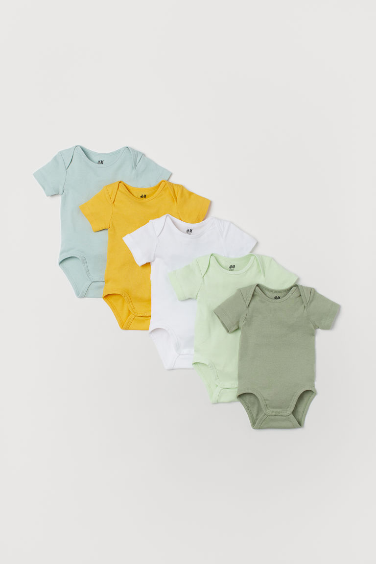 5-pack bodysuits - Green - Kids | H&M IE