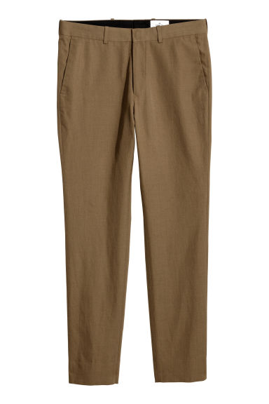 Wool-blend trousers - Light brown - Men | H&M