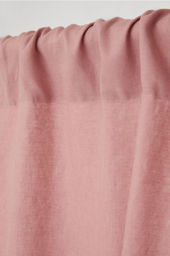 set van 2 linnen gordijnen roze home hm