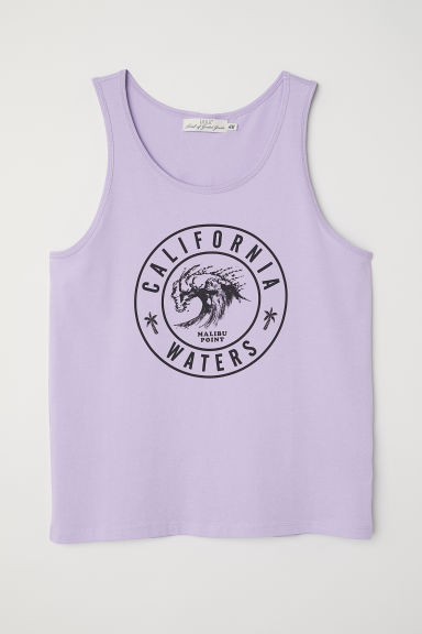 Printed vest top - Light purple -  | H&M CN