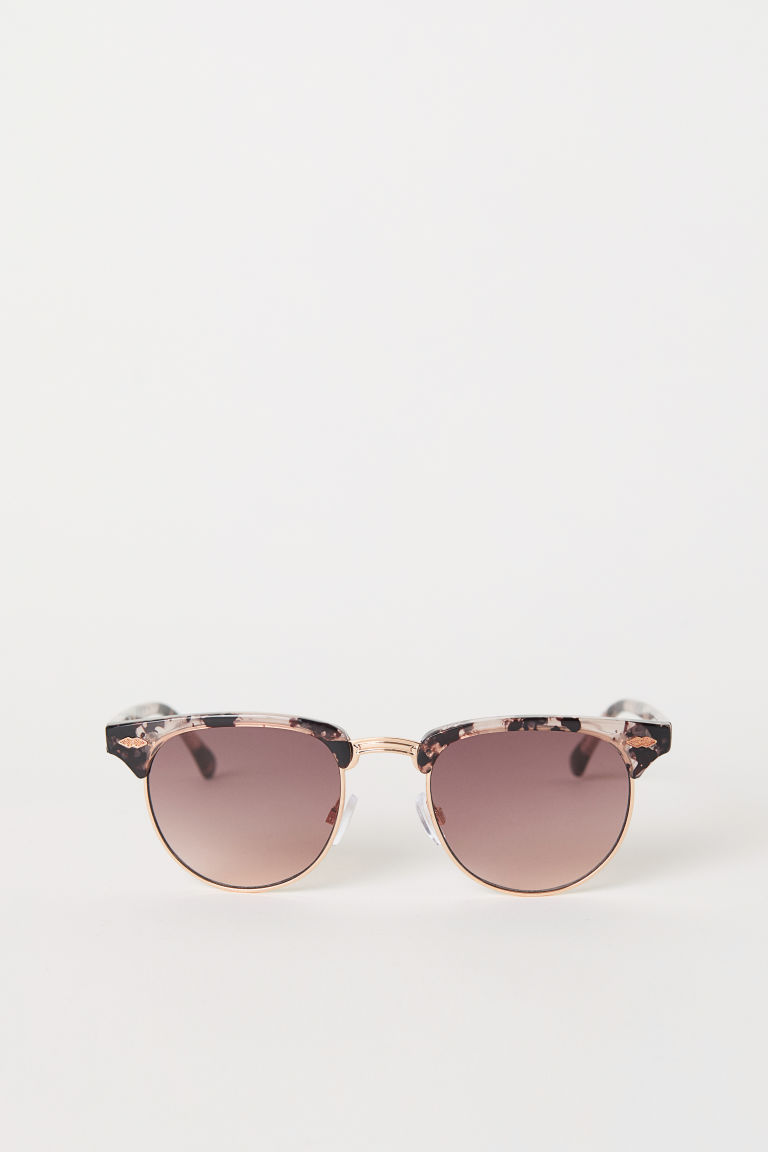 Sunglasses - Powder pink/Patterned - Ladies | H&M CN
