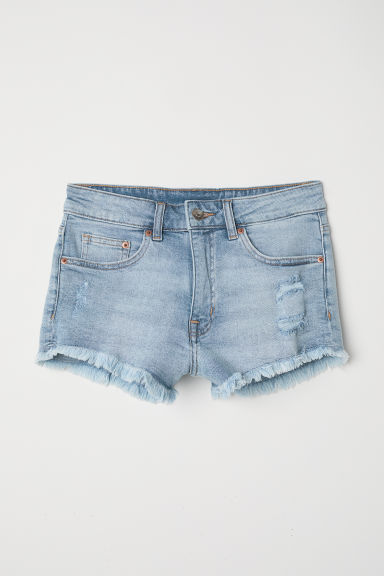 Short denim shorts - Light denim blue - Ladies | H&M