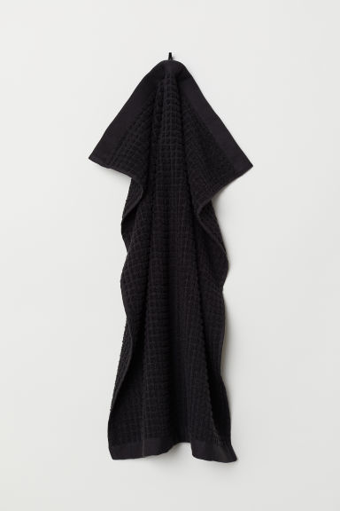 Jacquard-weave hand towel - Black - Home All | H&M CN