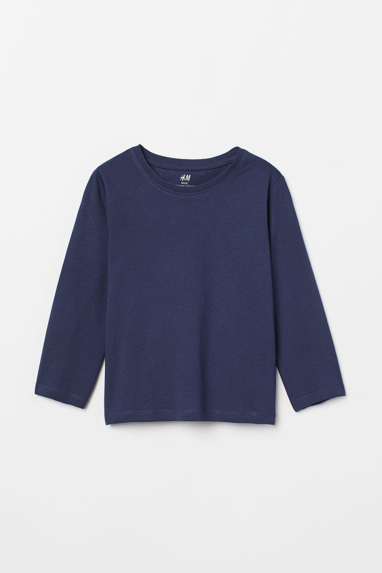 Tricot T-shirt - Donkerblauw - KINDEREN | H&M BE