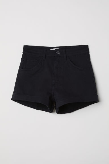 Shorts High waist - Black - Ladies | H&M
