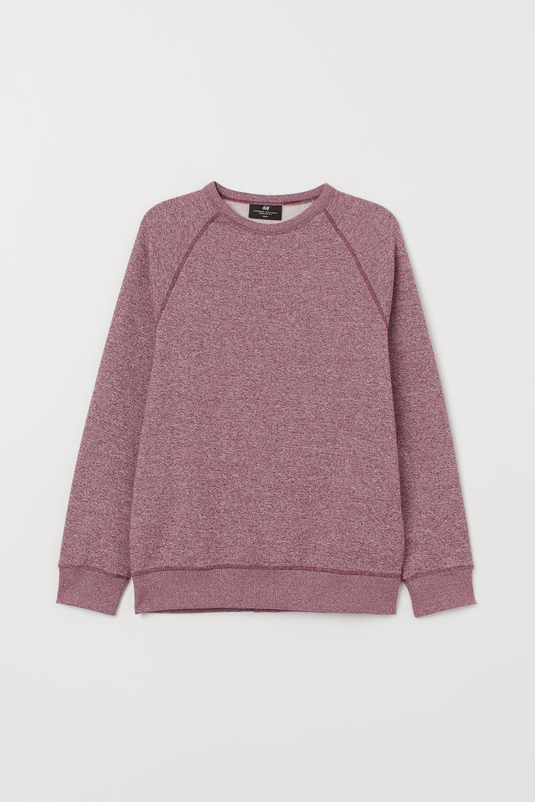 Felpa Regular fit - Rosso scuro mélange -  | H&M IT