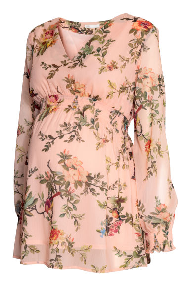 MAMA Patterned blouse - Powder pink/Floral -  | H&M CN