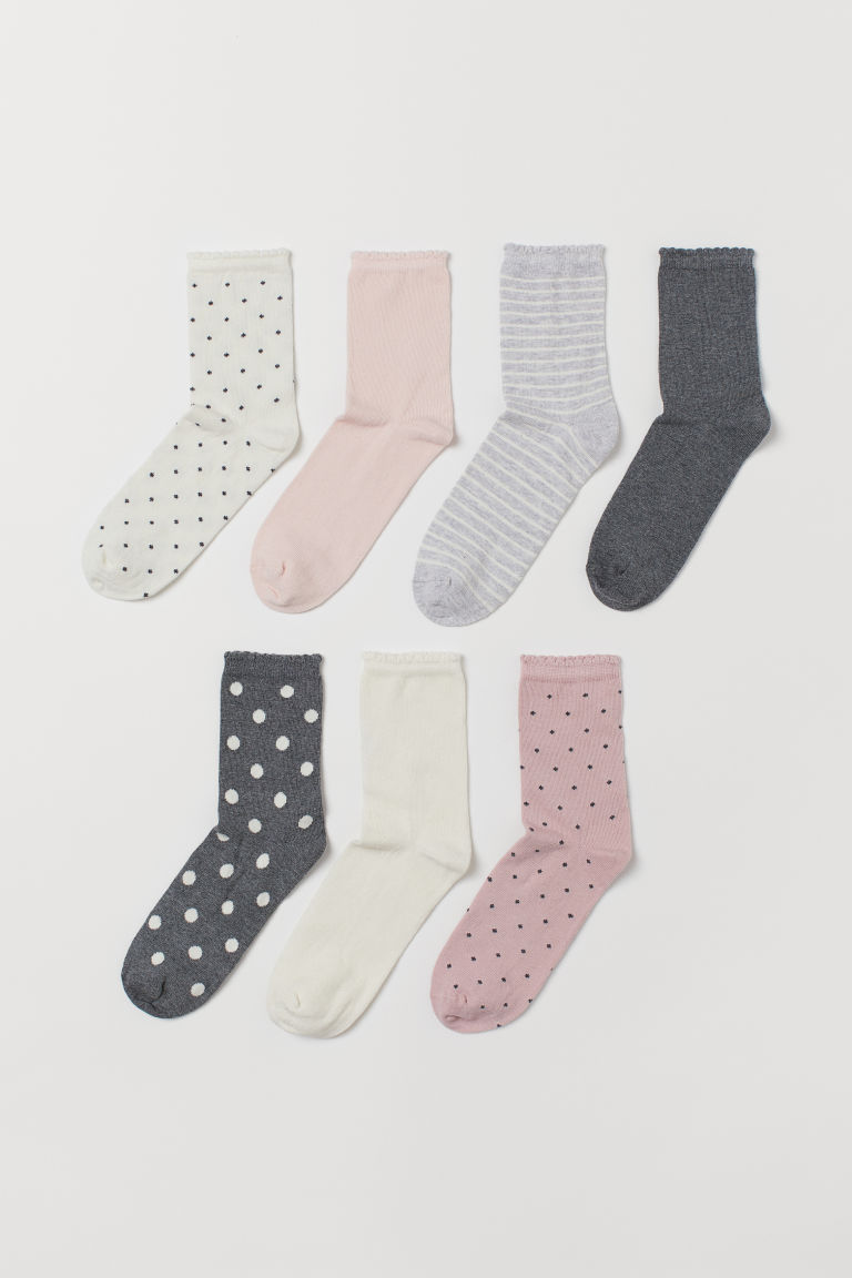 7-pack de calcetines - Blanco/Lunares - Kids | H&M MX