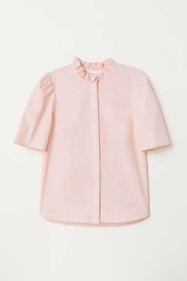 Puff-sleeved blouse - Light pink - Ladies | H&M