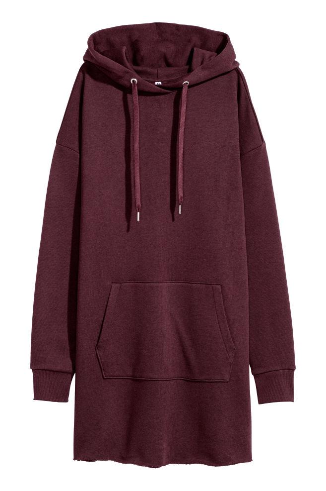 d870828e6094 Hooded Sweatshirt Dress - Burgundy - Ladies